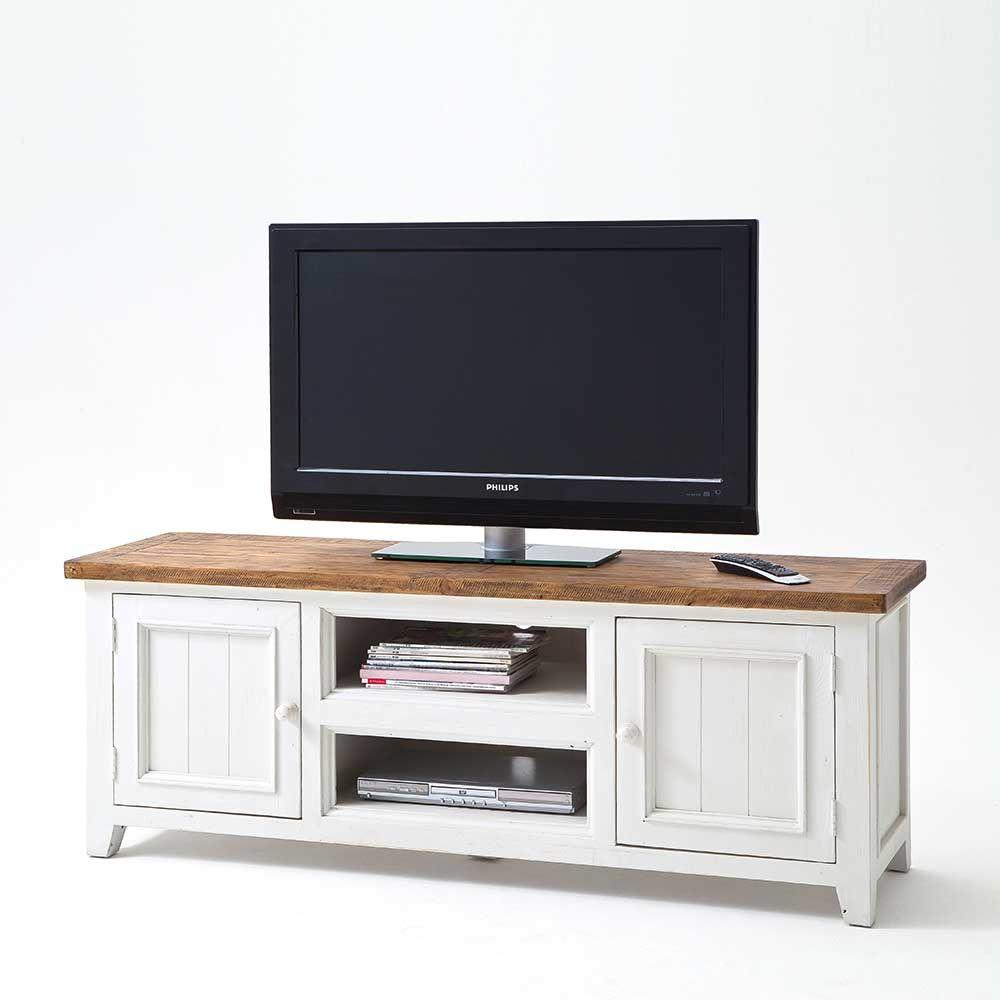 Tv Board In Weiss Kiefer Skandinavischem Landhausstil Jetzt