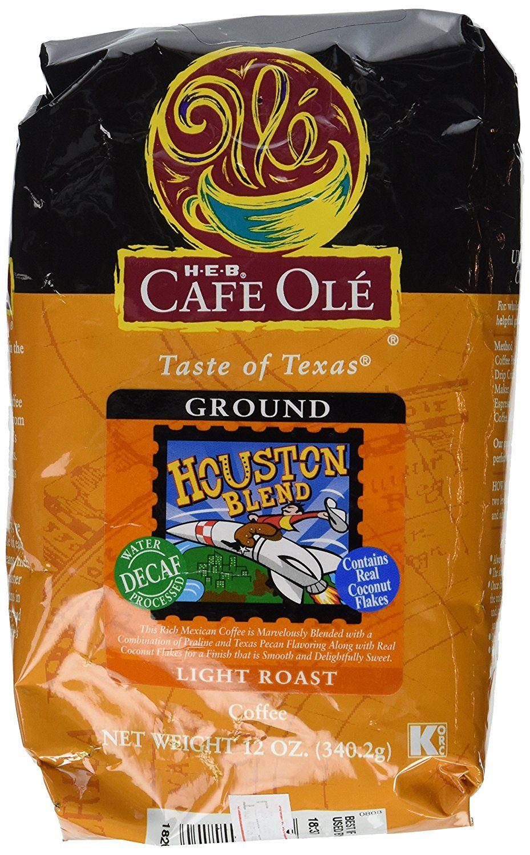 Heb Cafe Ole Taste Of Texas Decaf Ground Coffee Houston Blend Light Roast 12 Oz