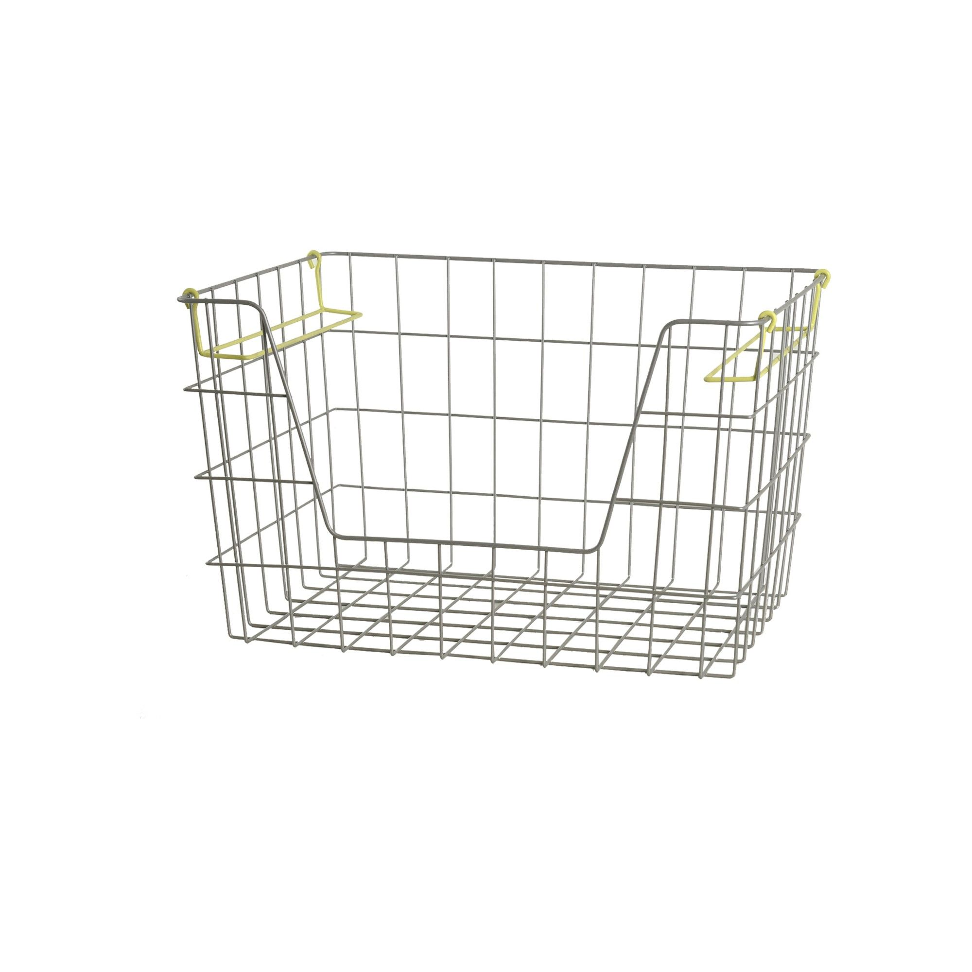 Wire Stackable Bin Large Lime - Pillowfort, Silent Lime | Stackable ...