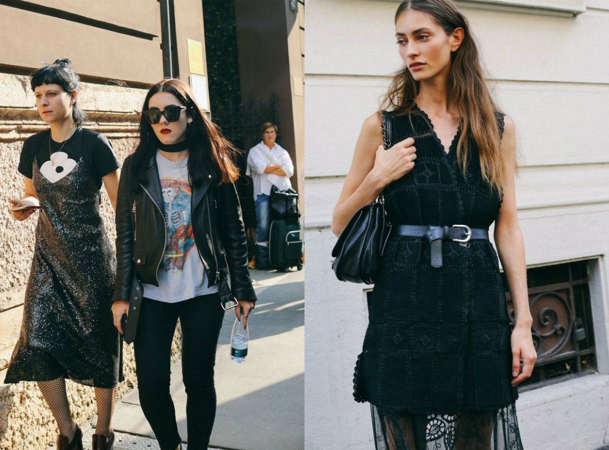 Middle part hairstyles 2017 inspired by Milan street style looks are really worth attention and consideration, so let me show them to you right now.