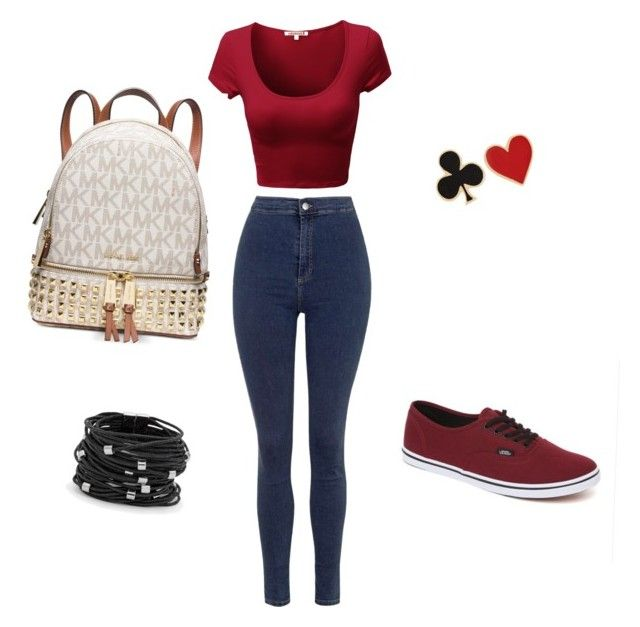 """""""Defne"""" by ecenury on Polyvore featuring Topshop, Vans, Alison Lou, Chico's and Michael Kors"""