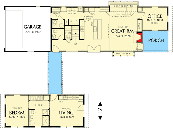 Unique Dog Trot House Plan