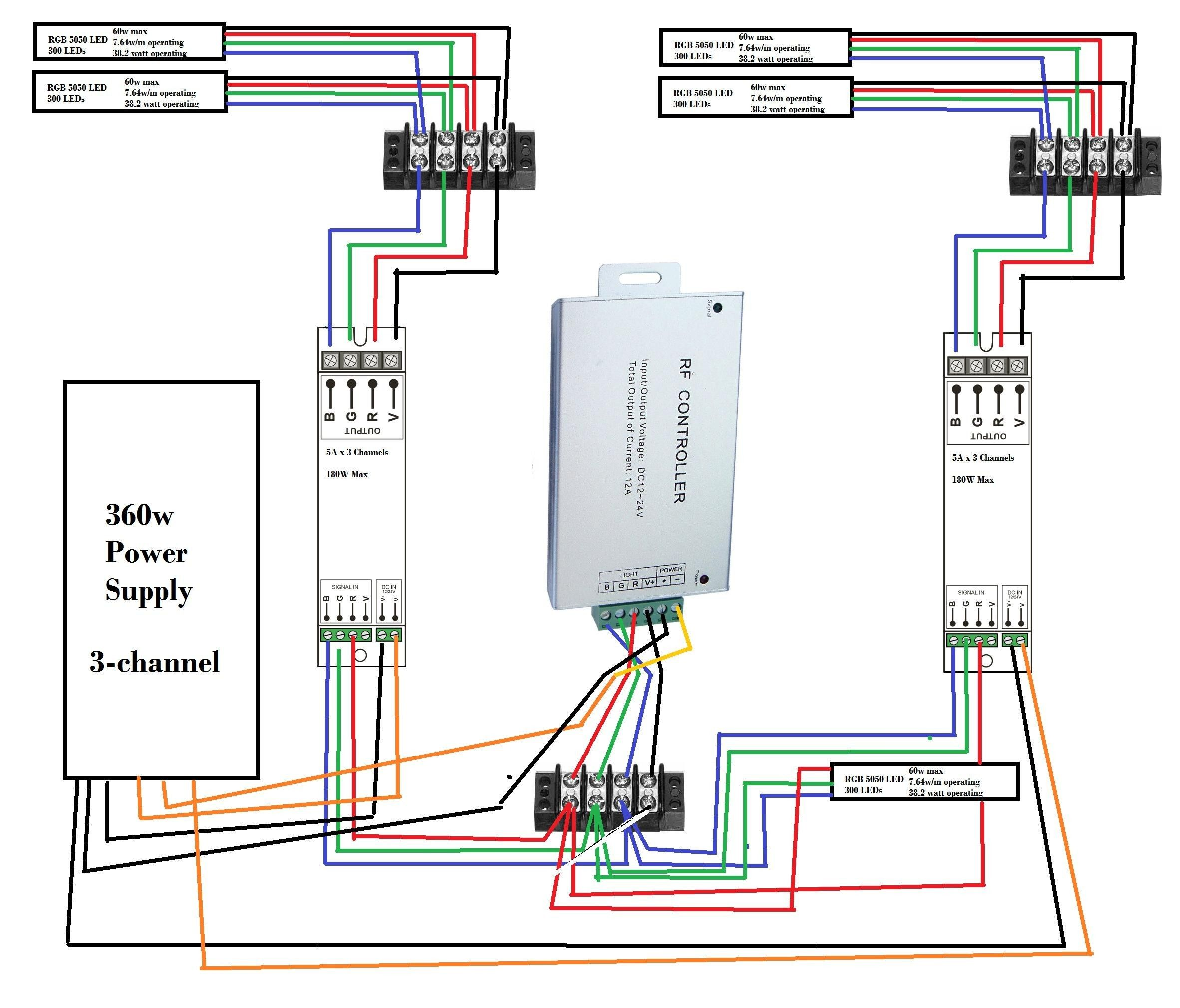 wiring led strip lights in parallel code pinterest led 5 wire trailer wiring schematic led rope wiring schematic [ 2364 x 2020 Pixel ]