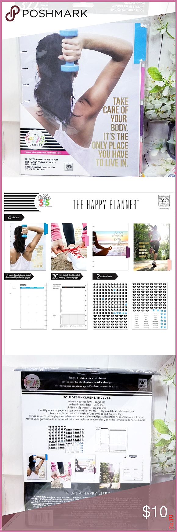 Fitness Extension Pack Classic Size Happy Planner New Never Used Bundle welcome ...#bundle #classic...