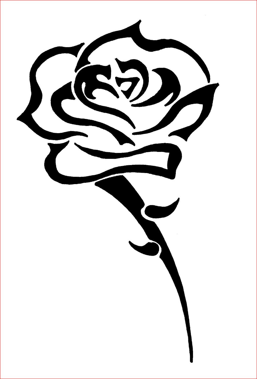 Dessin Original Facile A Faire Beau Dessin De Rose Facile A Faire Beau Fleur Facile A Dessiner Firstfridaytrolle Tribal Rose Tattoos Tribal Rose Rose Tattoos