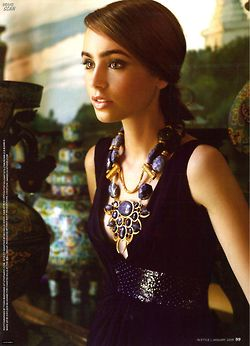 lily collins - love the necklace