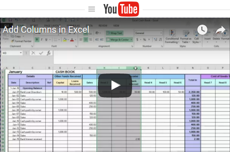 Free Excel Bookkeeping Templates Business bank account
