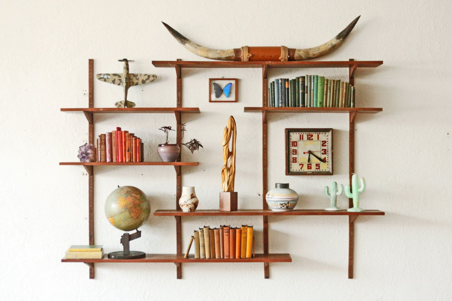 Mid Century Wall Shelf Unit Request A Custom Order And Have Something Made Just For You