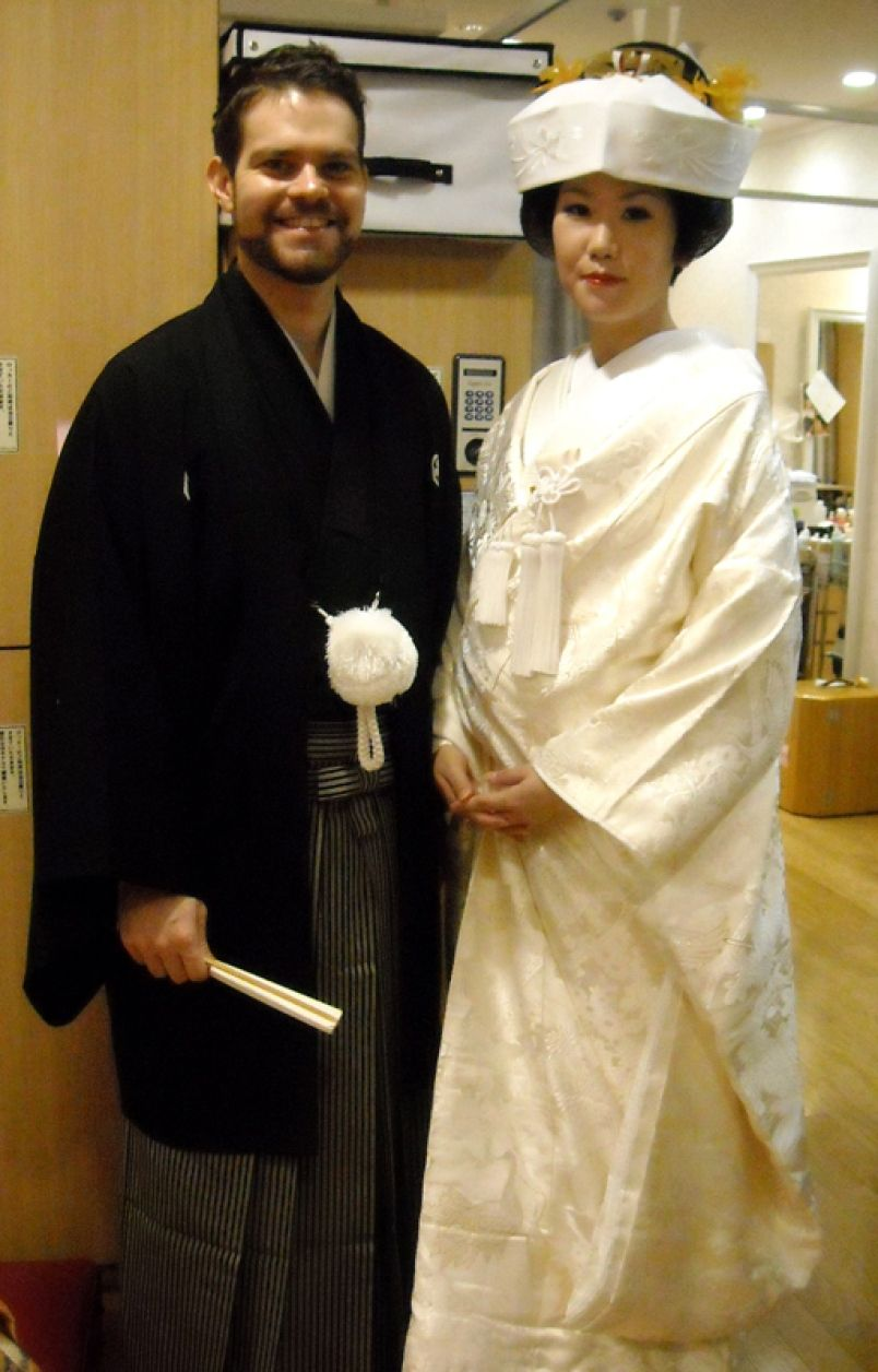 vietnamese wedded couple attires traditional japanese