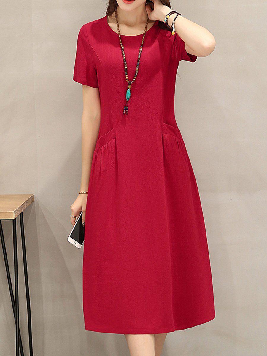 Adorewe stylewe midi dressesdesigner yifeiduona red short