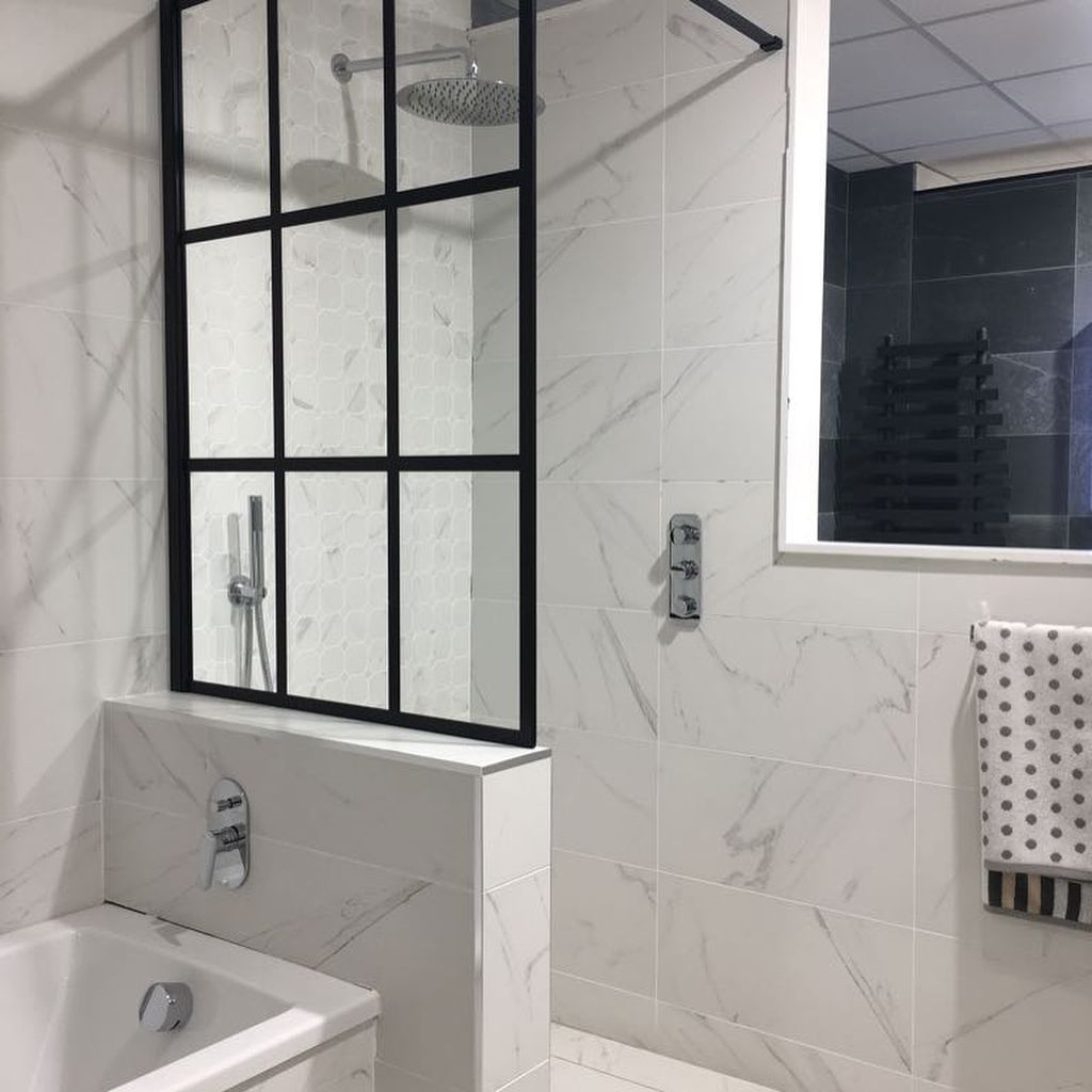 Ensuite Build Half Wall W Screen For Shower Area Half Wall Shower Half Walls Bathroom Inspiration