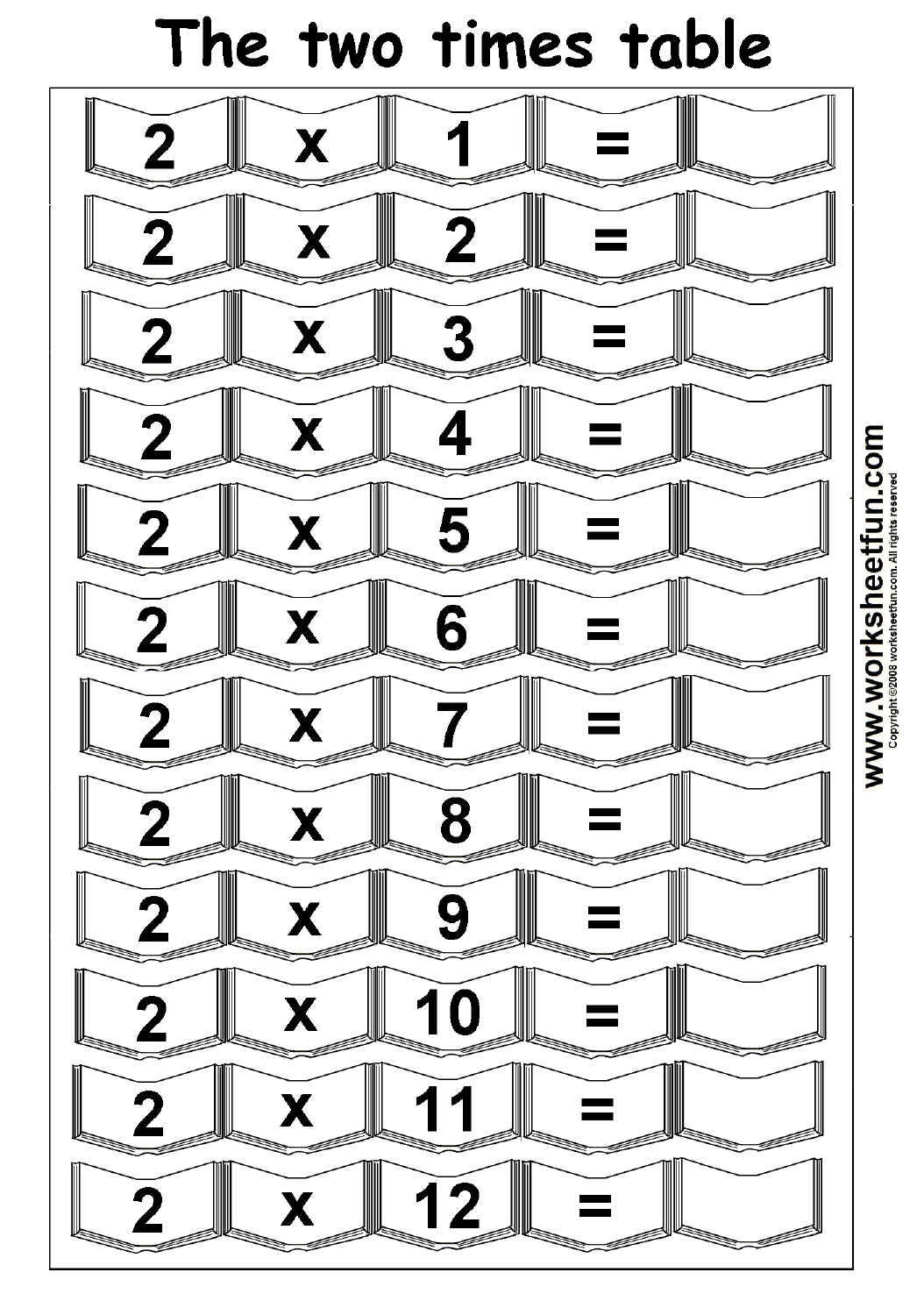 Times Table 4 Worksheets
