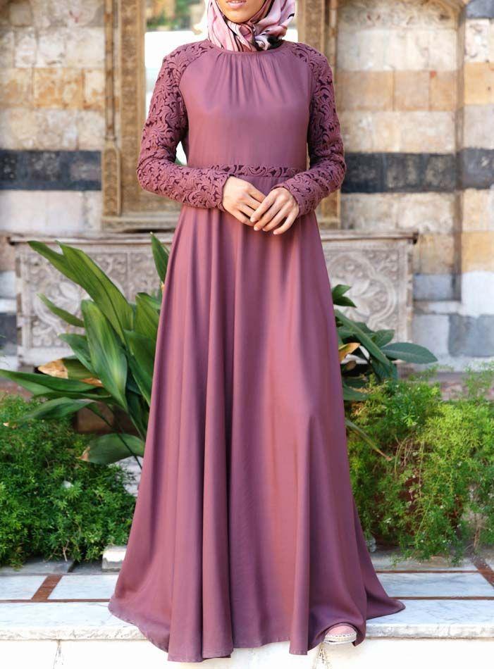 Embroidered Petals Abaya Gown | Moda islámica, Bayas y Cintas