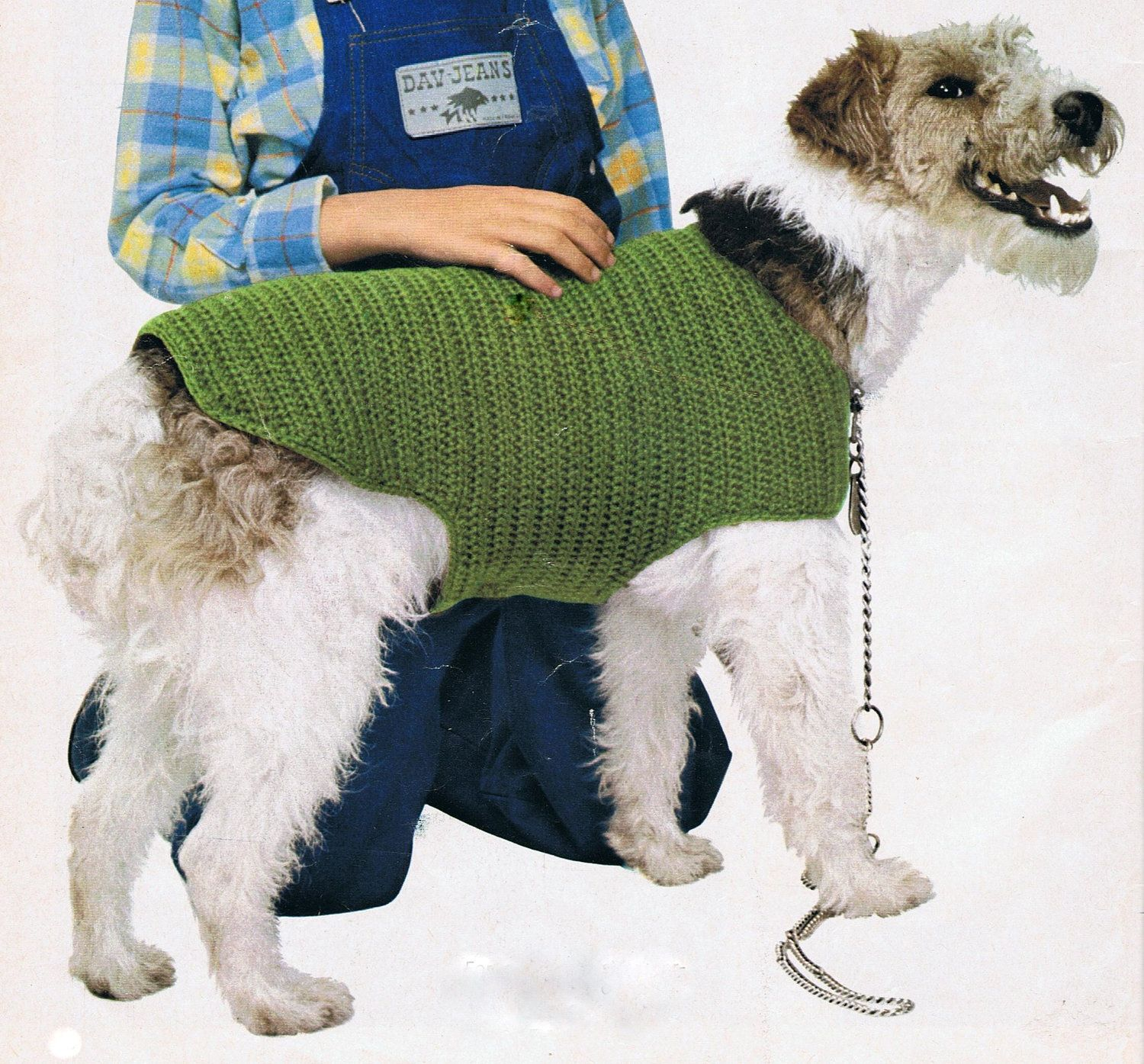 Dogs Knitted Coats Free Patterns : Dog Coat Crochet Pattern PDF Vintage (T188) INSTANT Download Dog coat patte...