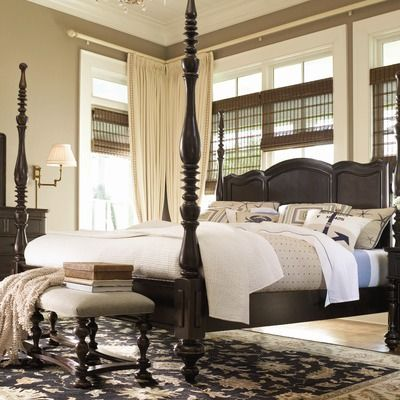 Paula deen home savannah four poster bed in tobacco for - Paula deen tobacco bedroom furniture ...