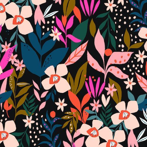 Soiree - Rayon Challis - Secret Garden #surfacedesign