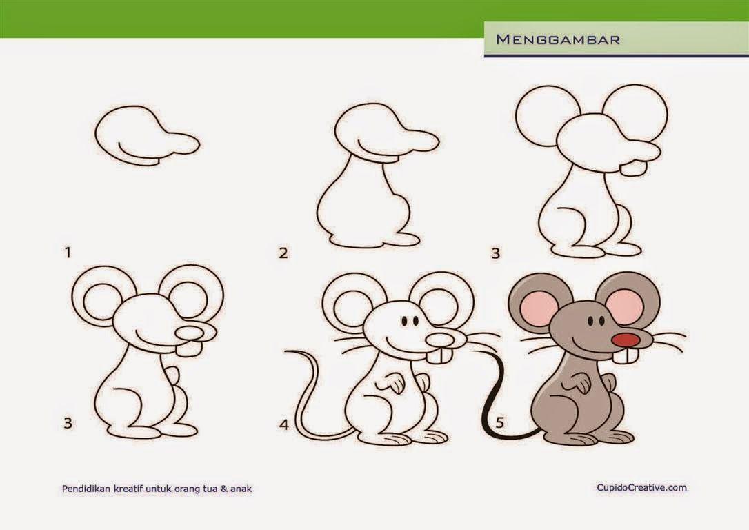 Kerajinan Anak Tksd Langkahcara Menggambar Mewarnai Tikus