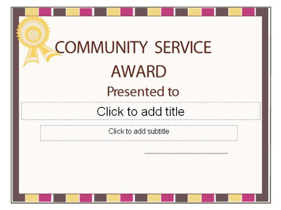 Community service certificate template free certificates of community service certificate template free certificates of yadclub Choice Image