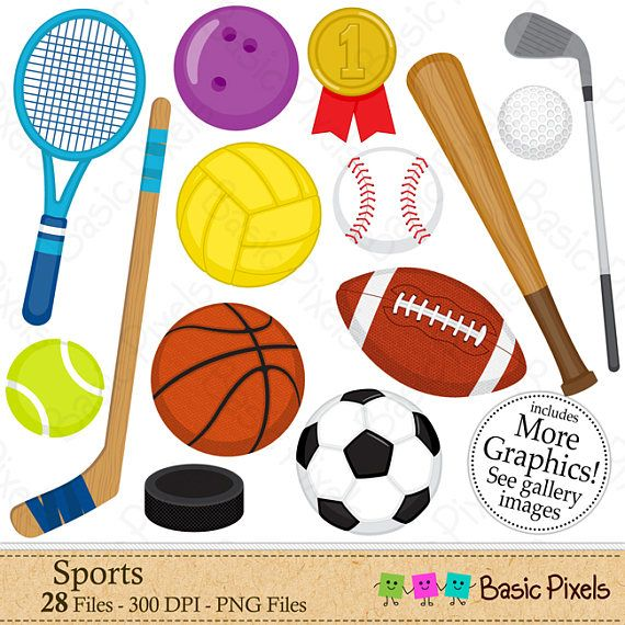 Sports clipart digital clip art personal and for Sports clipart
