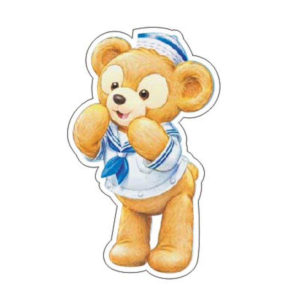 50pcs/lot Kawaii Duffy Bear Flat Back Resin Japan Cartoon Planar Resin DIY Crafts for Home Decoration Accessories