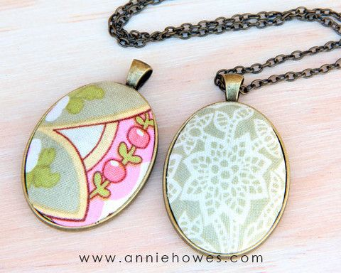 How to make fabric pendant jewelry crafts to make and sell how to make fabric pendant jewelry aloadofball Gallery
