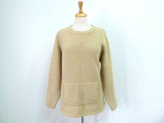 Knit Sweater Cashmere Handknit sweater by KMalinkaVintage on Etsy