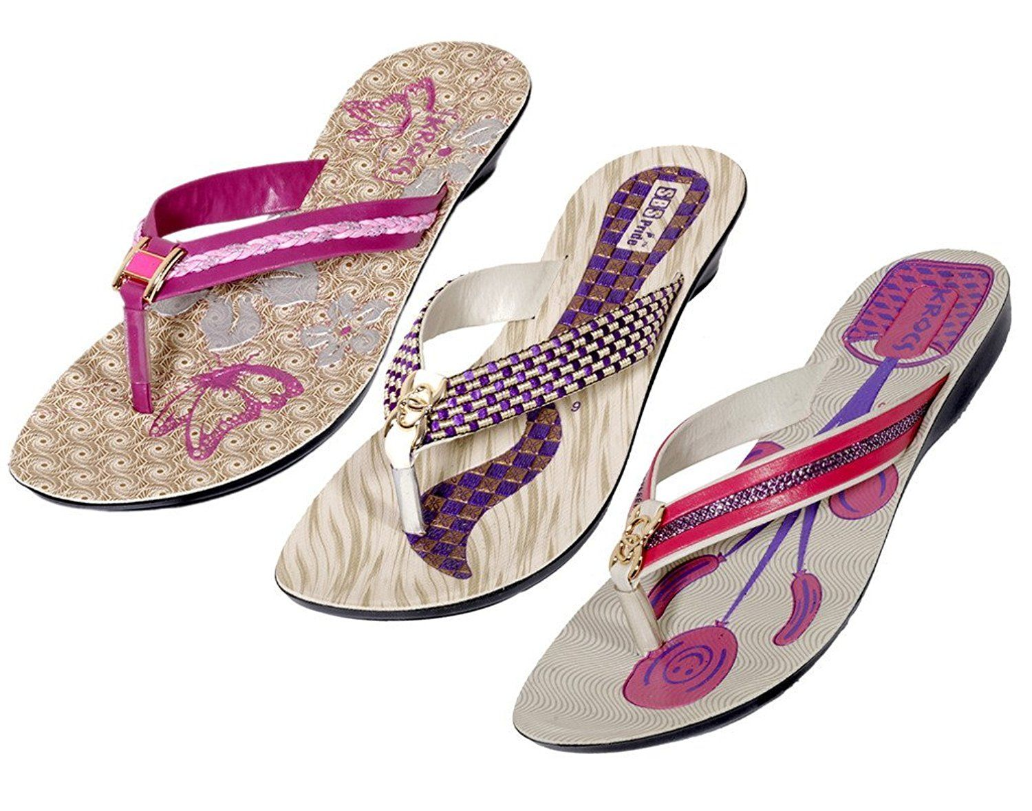 Indistar Women's PU Krocs Flip Flop(Set Of 3 Pair) >>> Check this awesome product by going to the link at the image.