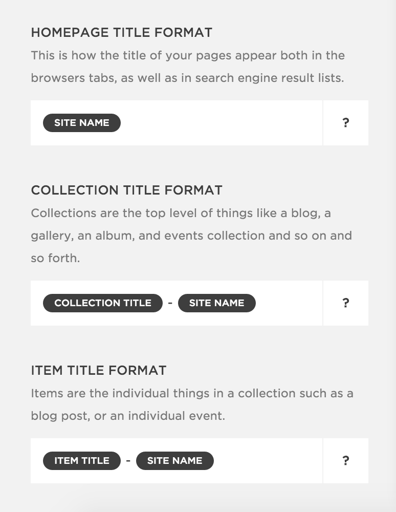Squarespace title tag format Search engine, Engineering, Seo