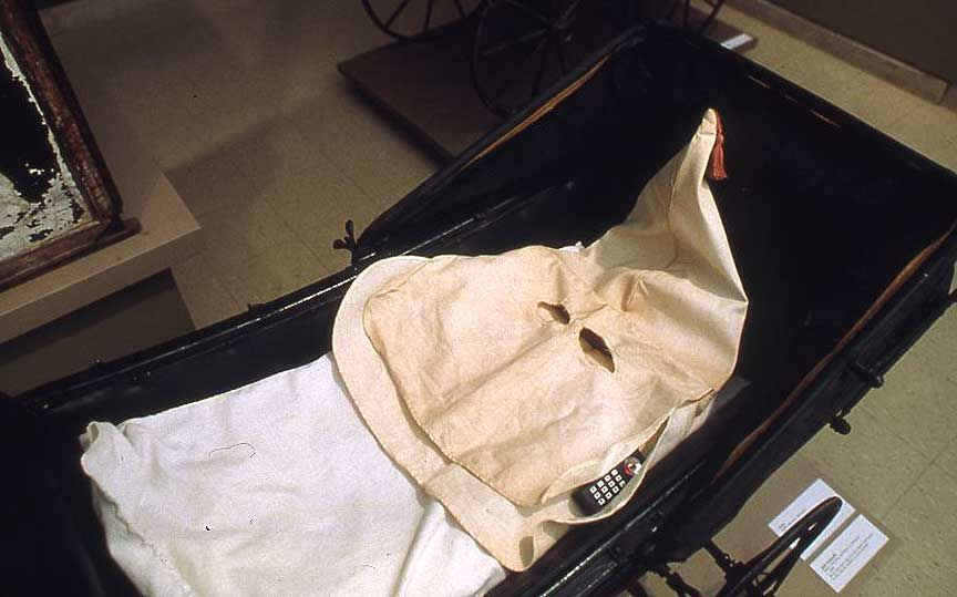 Fred Wilson Mining the Museum Baby Carriage with KKK Mask 1992 & Fred Wilson Mining the Museum: Baby Carriage with KKK Mask 1992 ...
