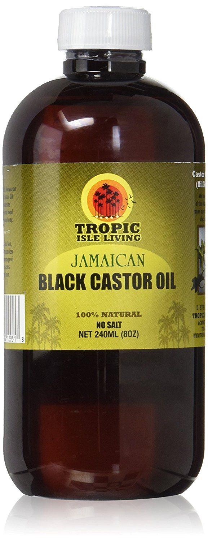 Tropic isle living jamaican black castor oiloz plastic pet bottle