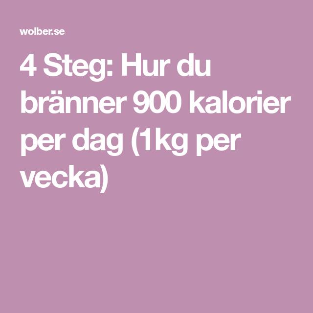 3500 kalorier per dag