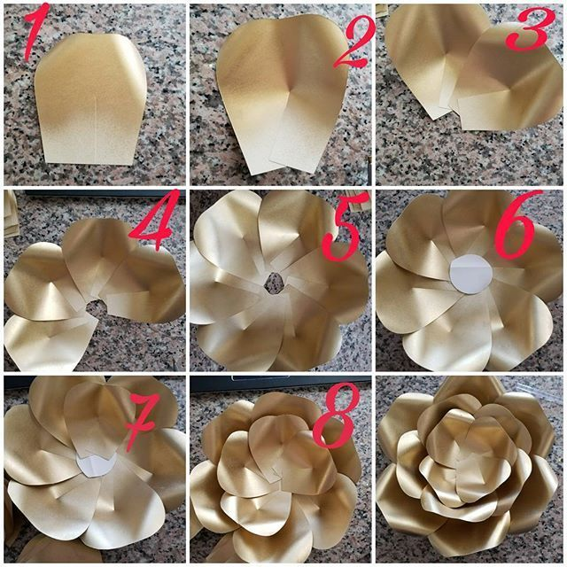 "Danielle Gonzales on Instagram: ""Hey guys I just finished making my paper flower rose tutorial using my LARGE Rose center then with my new template 155 I only had a half…"" - MyKingList.com #largepaperflowers"