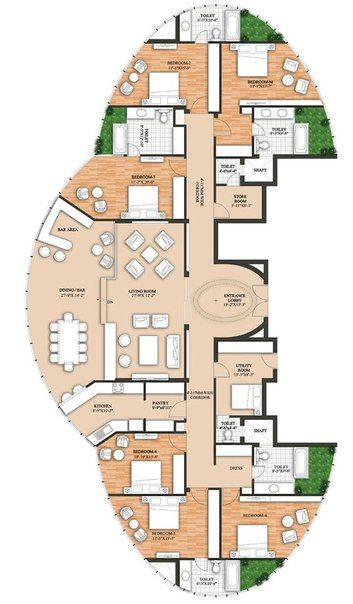 Fotografiya Hotel Floor Plan Round House Plans Floor Plans