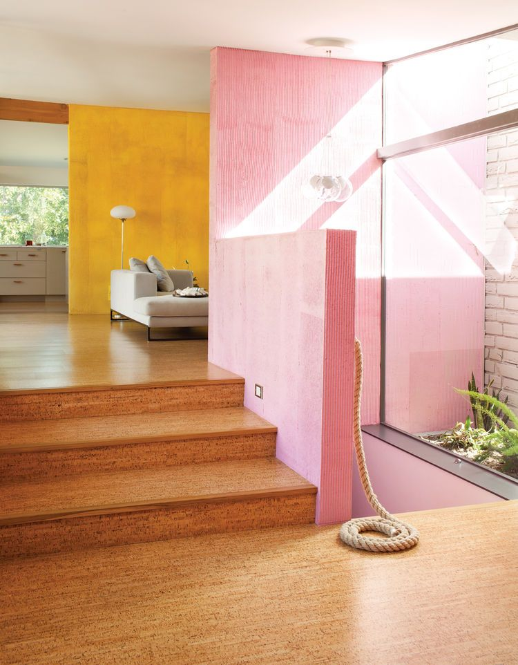 Modern home interior with pink and yellow walls | HOUSE | Pinterest ...
