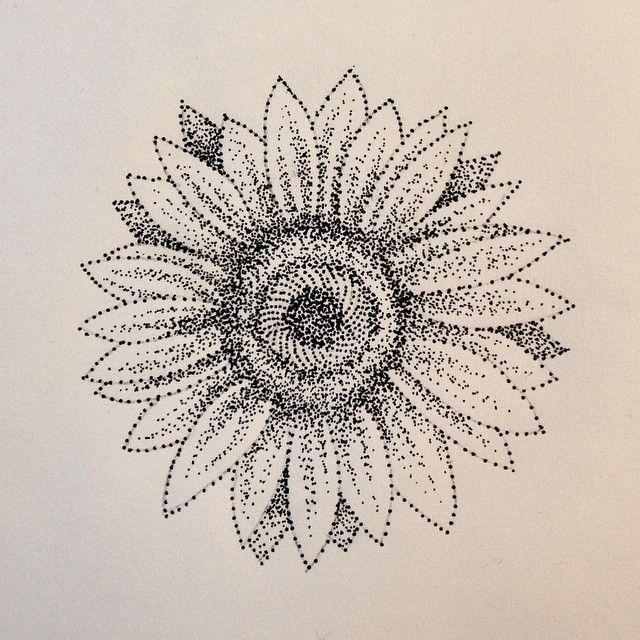 76bd4c582 Dotwork sunflower #dotwork #tattoo #design #blackwork | Tattoos ...