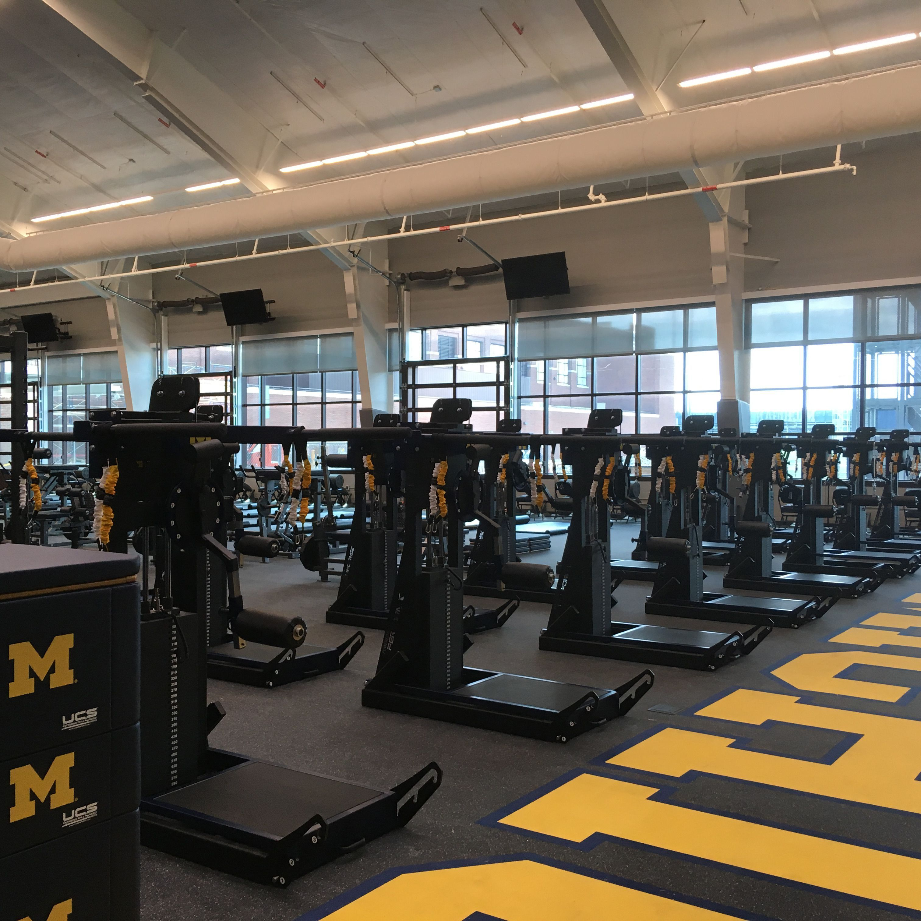 University Of Michigan Football Weightroom With Perform X Training Systems Https Www Perform X Com Michigan Sports Michigan Football Michigan