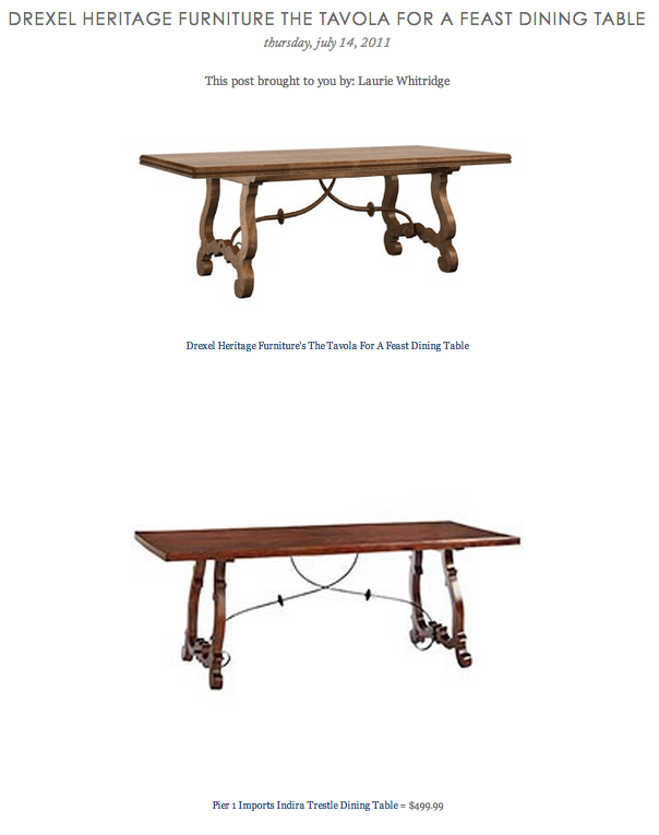 Copy Cat Chic Find Drexel Heritage Furniture's The Tavola For A Stunning Heritage Dining Room Furniture Inspiration
