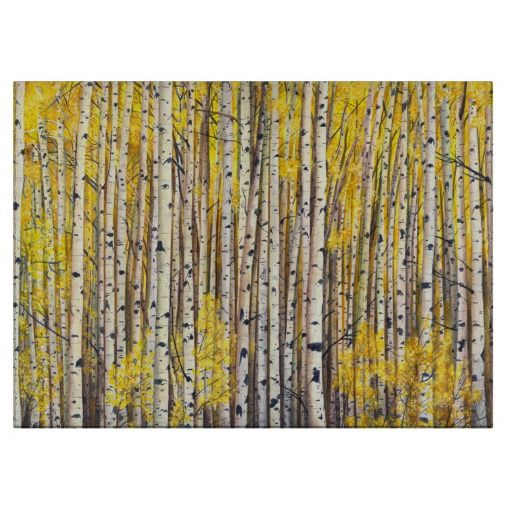 Yellow forest cutting board