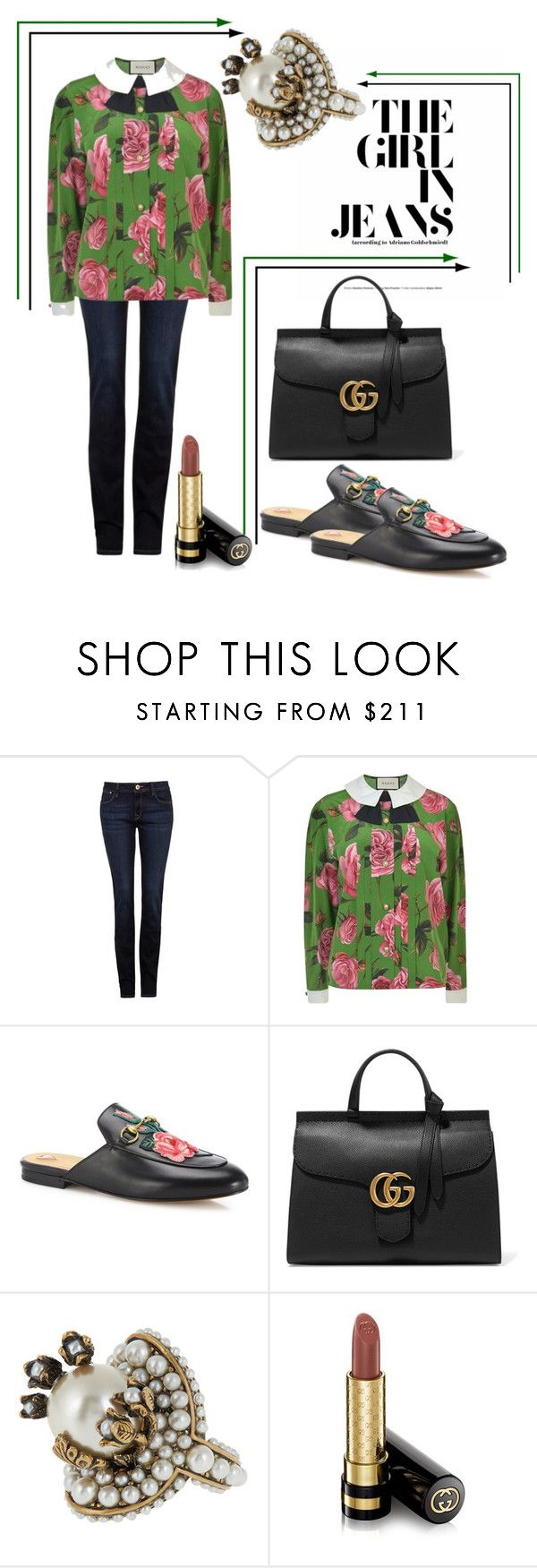 """""""Forget. I'm not sure I could..."""" by amygirl49 ❤ liked on Polyvore featuring DL1961 Premium Denim and Gucci"""