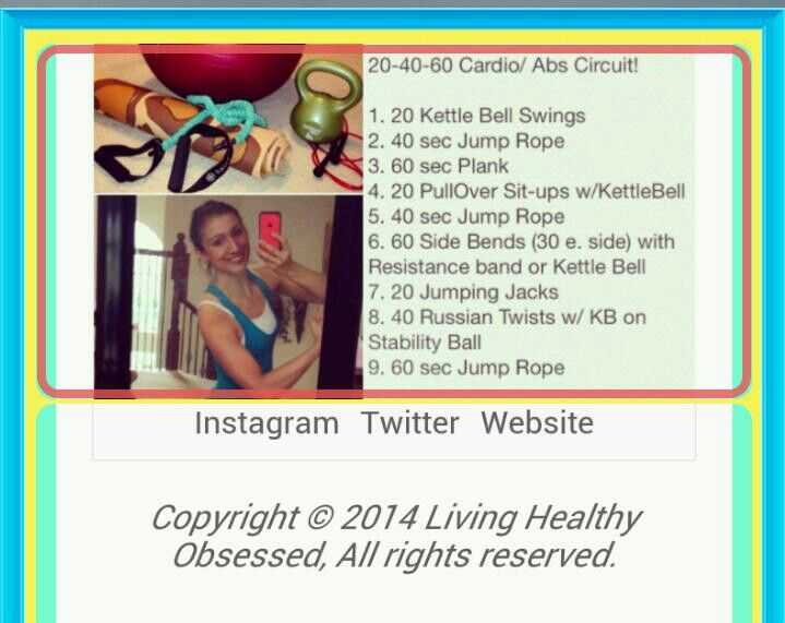 More on ezine : living healthy obsessed