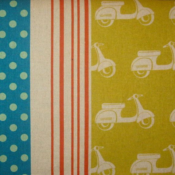 Echino decorator print  1 yard of yellow Scooter by kallistiquilts, $18.00