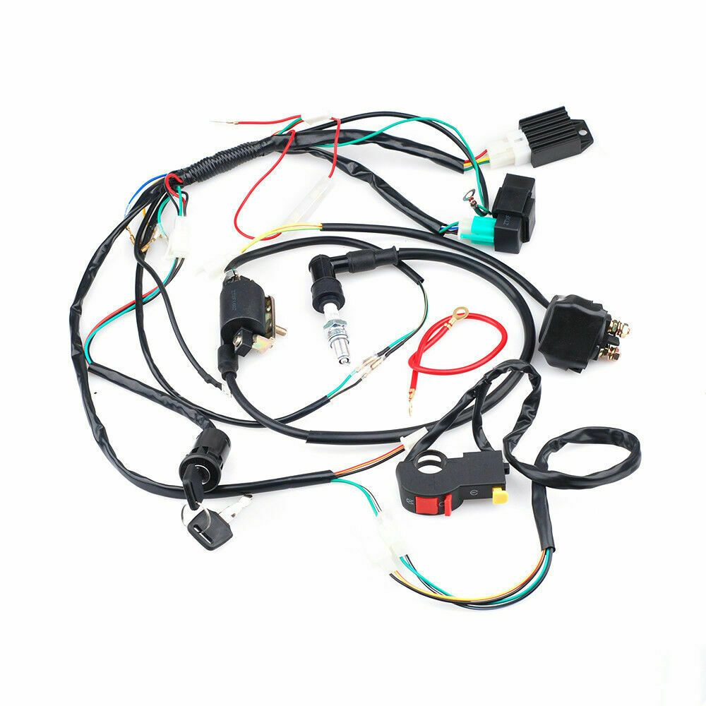 Ebay Advertisement Full Electrics Wiring Harness Coil Cdi For 50 110cc Atv Electrical Components Atv Side By Side And Utv Parts And Accessories Quad