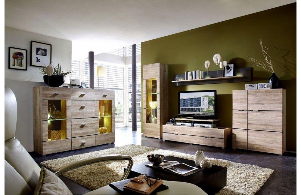 Meuble de salon moderne en bois - Ensemble meuble de salon en bois ...
