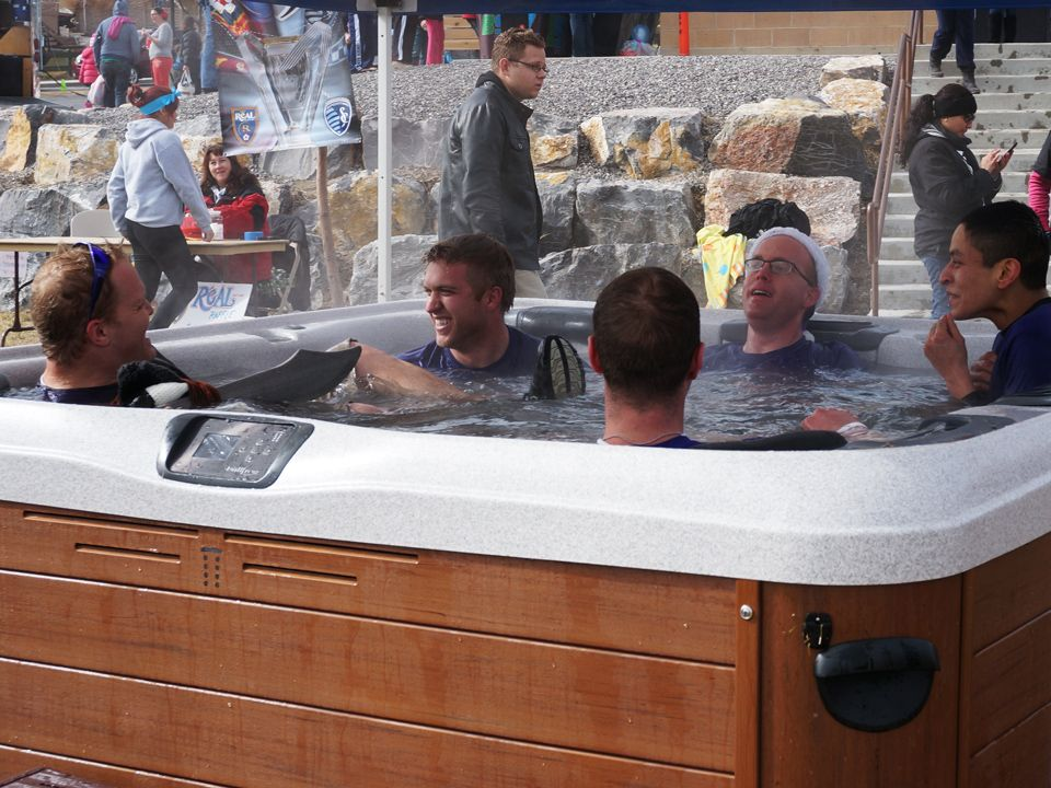 Hot tub practically saving lives. Polar Plunge 2014. Read about it ...