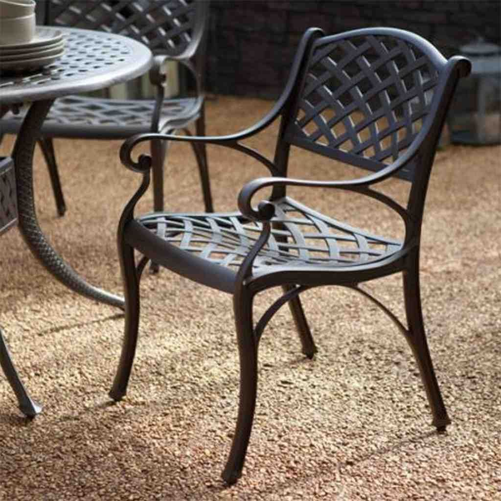 Black Wrought Iron Dining Chairs In