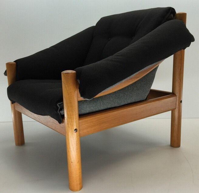 Vintage Danish Modern Domino Mobler Lounge Chair Teak Black Grey Tweed |  EBay | Mid Century Furniture | Pinterest | Teak, Danish And Mid Century  Furniture