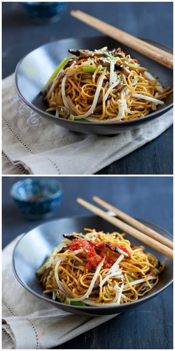Vegetable Chow Mein this Chinese vegetarian recipe
