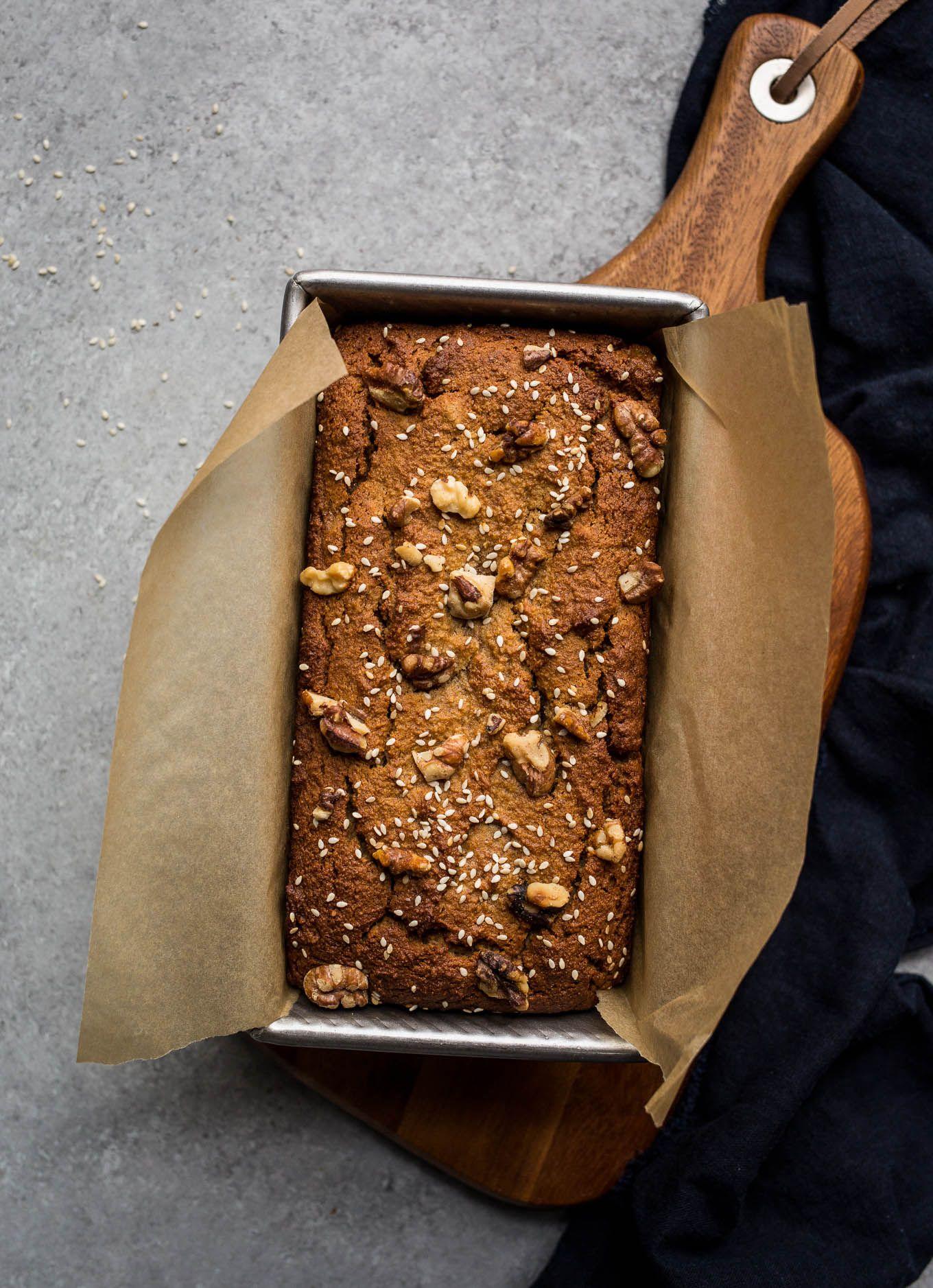 Gluten-Free Tahini Banana Bread | Receta | Postres sin gluten, Sin ...