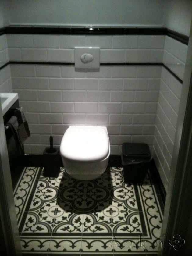 schwarzwei   Kaffeemhlenhaus  Badezimmer Fliesen und Gste wc