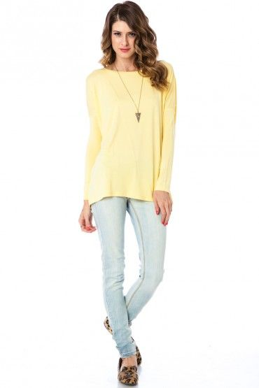 Cozy Long Sleeve Top in Yellow